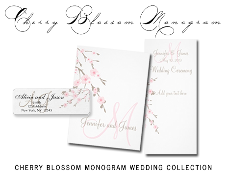 CherryBlossomMonogramWeddingCollection