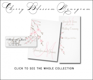 Cherry Blossom Wedding Invitations by MonogramGallery.ca