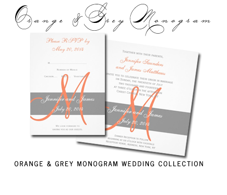Orange&GreyMonogramCollection