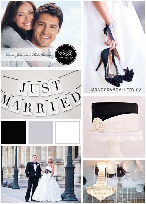 Inspiration Board for Black Wedding Invitations | Monogram by MonogramGallery.ca