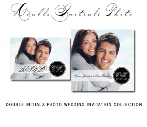 Black Wedding Invitations | Monogram