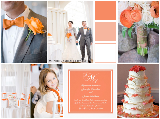 Inspiration Board for  Orange Wedding Invitations by MonogramGallery.ca
