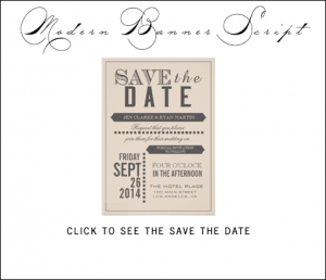 Beige Gray Save the Date Cards by AntiqueChandelier for MonogramGallery.ca