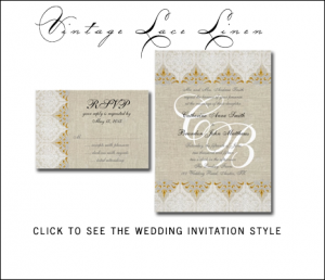 Inspiration Board for Burlap Wedding Invitations designed by MonogramGallery.ca. Click on image to order.