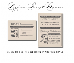 Typography Wedding Invitations | Vintage Beige by MonogramGallery.ca