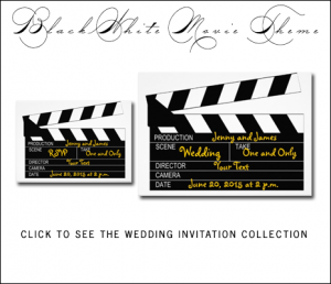 Hollywood Wedding Invitations by MonogramGallery.ca