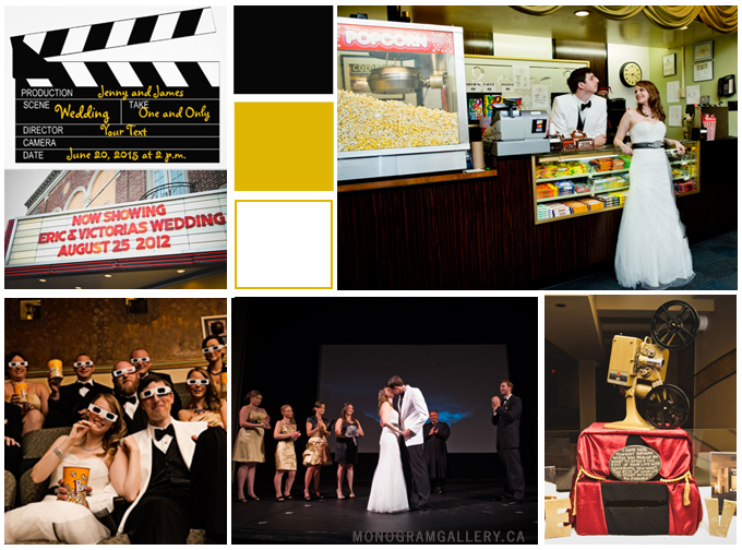 Inspiration Board for Hollywood Wedding Invitations by MonogramGallery.ca