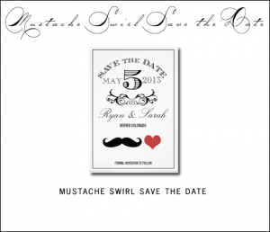 Mr and Mrs Save the Date Cards by AntiqueChandelier for MonogramGallery.ca