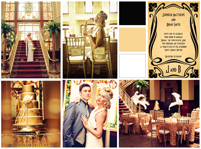 Great Gatsby Inspired Wedding Theme from MonogramGallery.ca