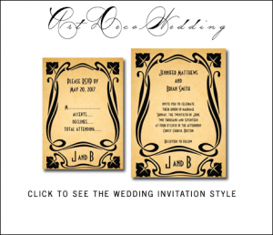 Great Gatsby Inspired Art Deco Wedding Invitations from MonogramGallery.ca