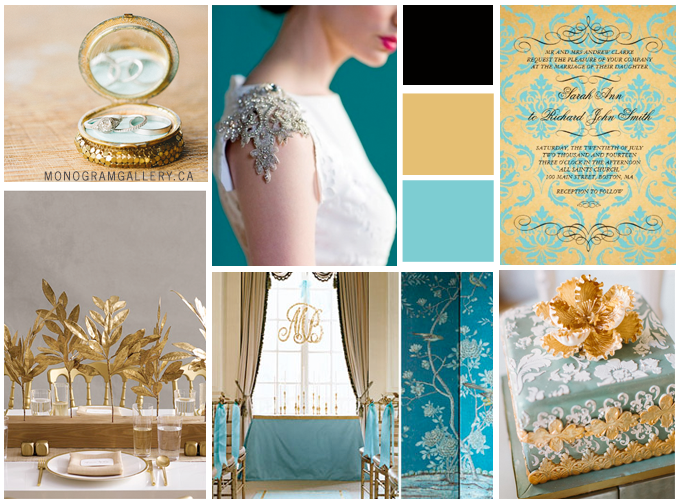 Royal Wedding Theme Inspiration Board from MonogramGallery.ca