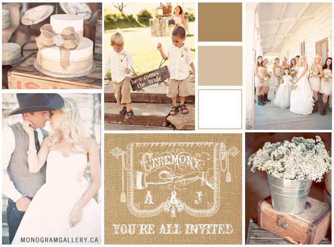 Old Fashioned Country Wedding Inspiration Board