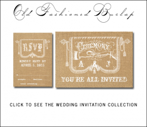 Old Fashioned Country Wedding Invitations from MonogramGallery.ca