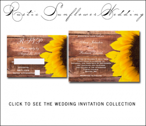 Rustic Sunflower Wedding Invitations from MonogramGallery.ca