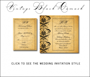 Great Gatsby Themed Wedding Invitations from MonogramGallery.ca