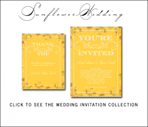 Rustic Yellow Sunflower Wedding Invitations from MonogramGallery.ca