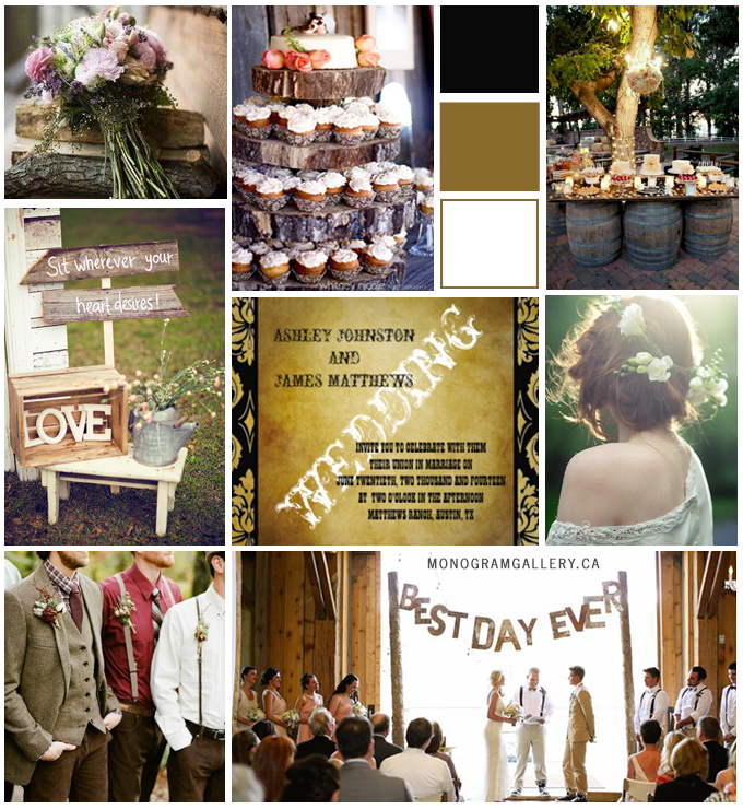 Rustic Wedding Invitations Inspiration Board from MonogramGallery.ca