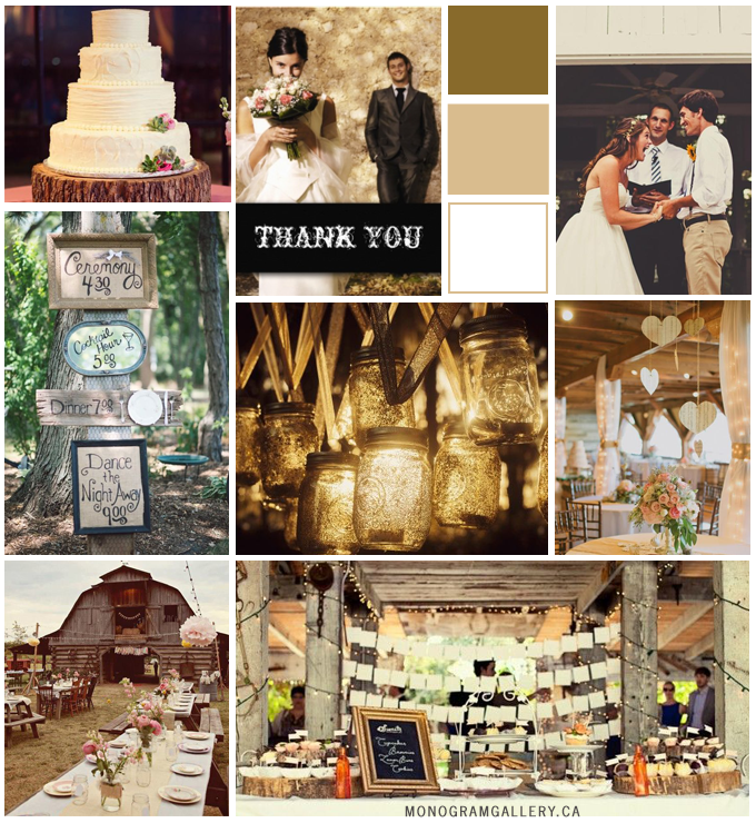 Rustic Wedding Photo Thank You Cards Inspiration Board from MonogramGallery.ca