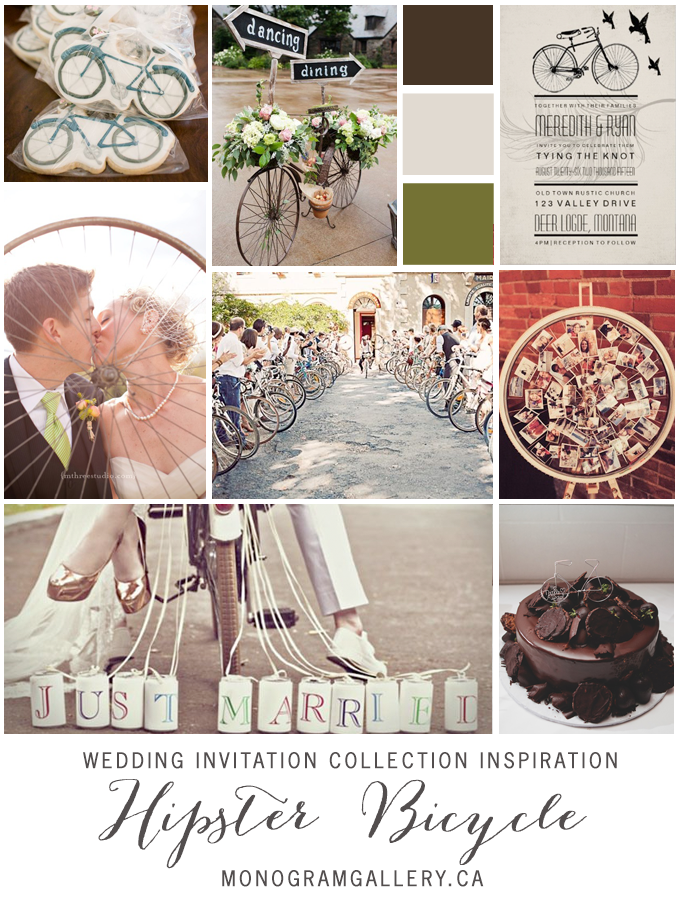 Vintage Hipster Bicycle Wedding
