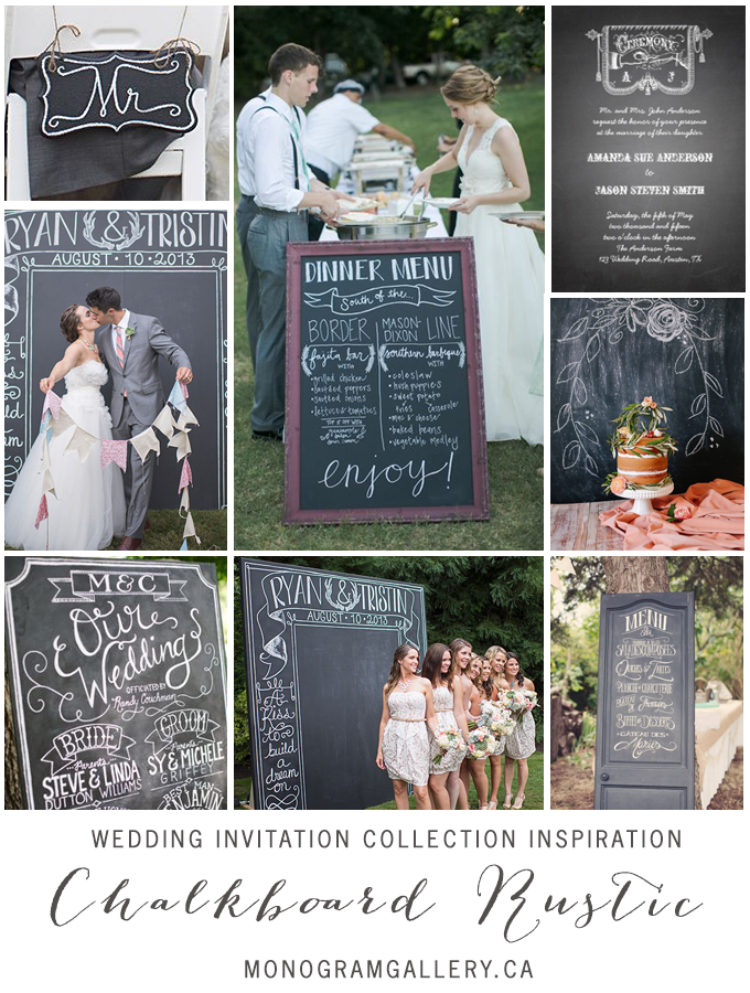 Chalkboard Rustic Wedding