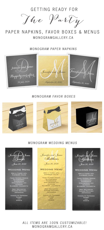 04-19-2014 Paper Napkins Favor Boxes Menus